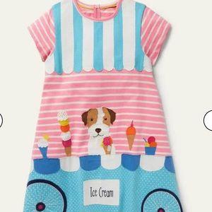NWT Mini Boden Fun Big Appliqué Dress